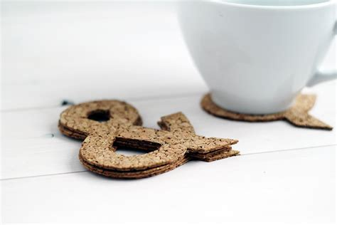 Updating Bathroom Ideas by Ampersand Cut Cork Coasters