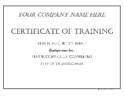 Basic Certificate Template by Free Basic Impressive Certificate From Formville