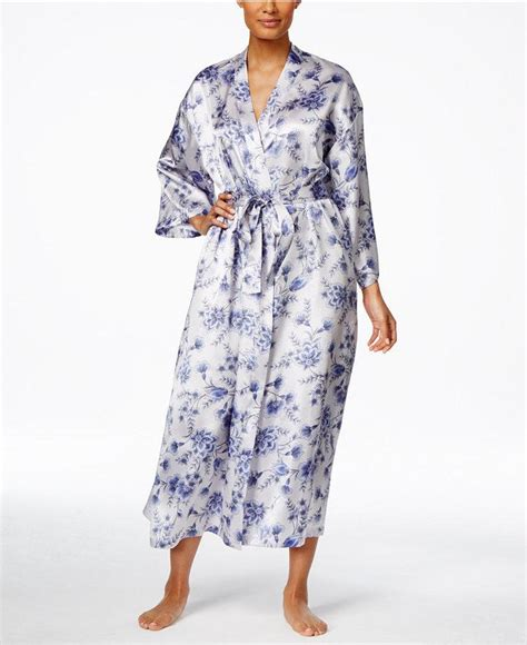 wedding hair accessories macy s floral print satin robe only at macy s
