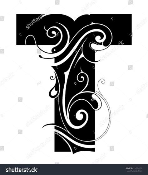 decorative symbol font download decorative letter shape font type t stock vector 114392359