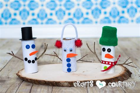 Snowman Toilet Paper Roll Craft - how to craft a toilet paper roll snowman