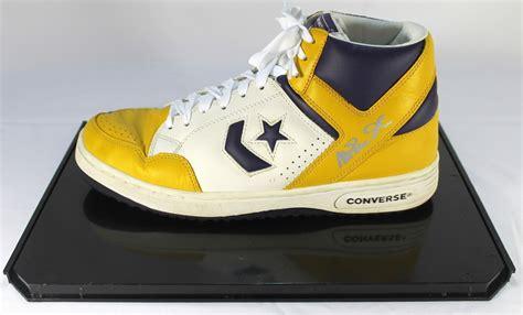 magic johnson basketball shoes pristine auction