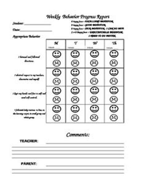 daily report card template for adhd pbis daily behavior progress report