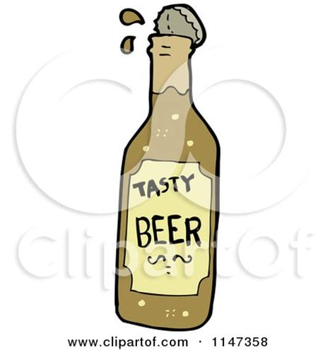beer bottle cartoon cartoon of coffee soup and tea royalty free vector