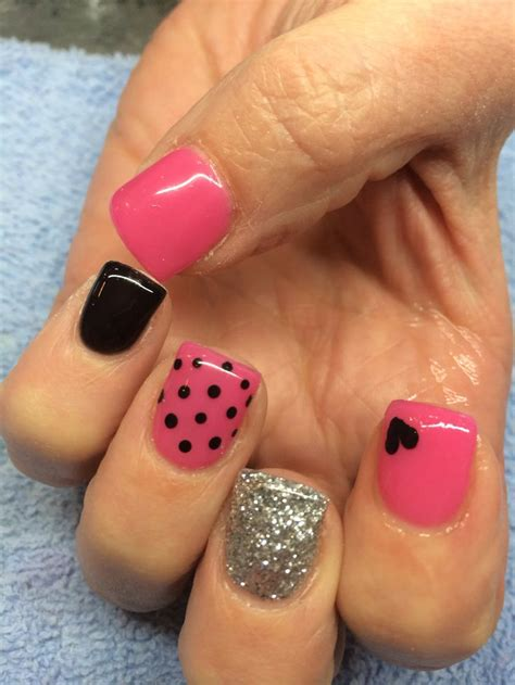 easy valentines nails easy s day nail ideas nail design black