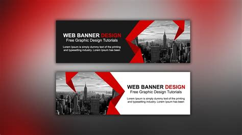 design banner on line web banner ad design tutorial photoshop cc youtube