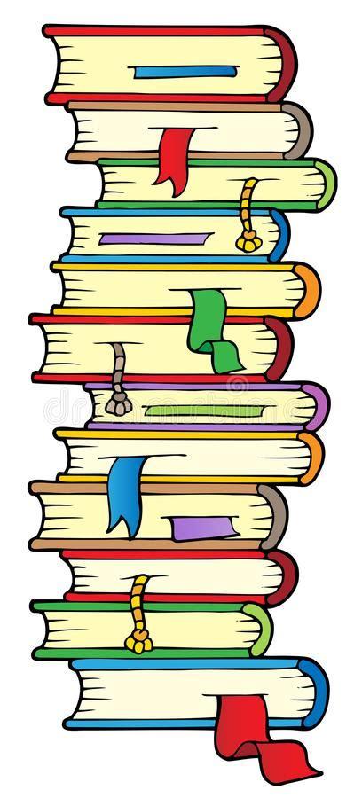 libri clipart grande colonna dei libri illustrazione vettoriale