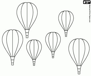 Hot Air Balloons coloring pages printable games