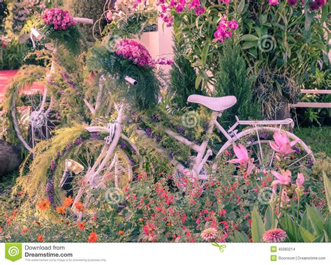 Garden Decoration Bicycle by Vintage Bicycle Garden Stock Photo Image 45083214