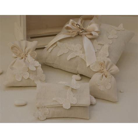 cuscino portafedi cuscino portafedi di cotone con farfalle di varie misure