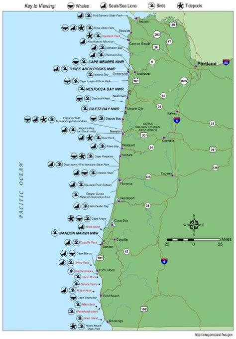 map of oregon pacific coast oregon coast wildlife map whale locations tons