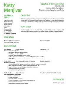 Computer Animator Sle Resume by Computer Animation Resume Sles On Resume