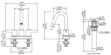 bathroom faucet sizes amalfi bathroom faucet collection by danze