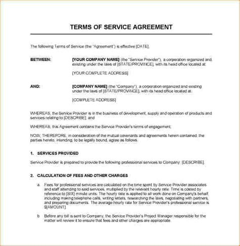 Service Contracts Resume