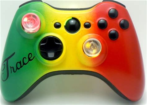 Custom Xbox 360 Controller Rasta Theme Colors