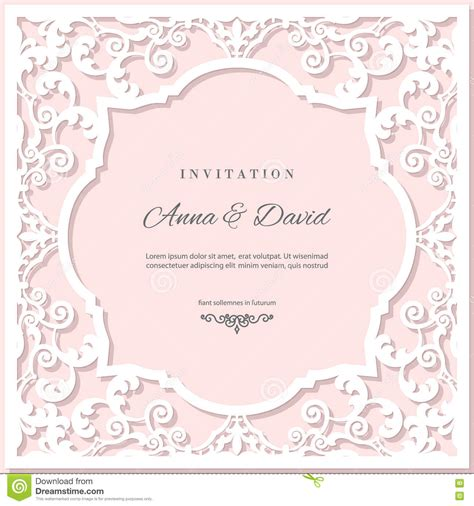 pastel color card templates wedding invitation card template with laser cutting frame