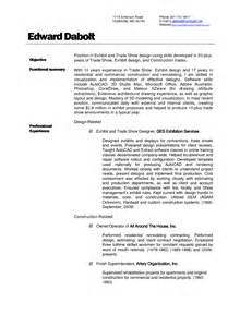 construction resume sle construction superintendent resume exles and sles