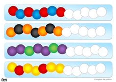bead pattern worksheet repeating patterns with 3 colours 4 worksheet activities