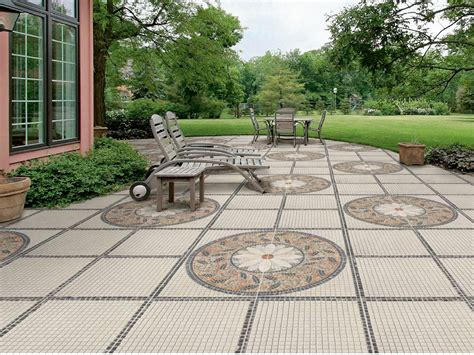 backyard floor tiles porcelain stoneware outdoor floor tiles trevi by realonda
