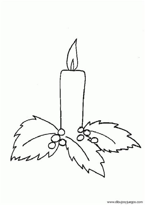 dibujos de navidad para colorear de velas dibujos velas navidad 010 dibujos y juegos para pintar