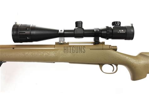 Kaos Airsoft Dual Sniper snow wolf sw24 m24 earth airsoft sniper rifle with dual illuminated 4 16x50 rifle scope and