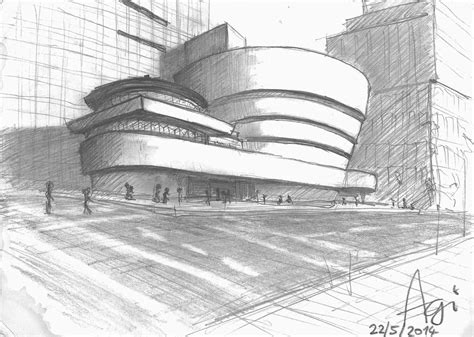 Sketches New And by Buildings Guggenheim Museum New York By Agiro On Deviantart