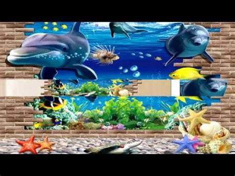 Jp Wallpaper Sticker Blue 3d blue sea world dolphin removable wall sticker wallpaper home decor