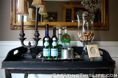 butler s tray as bar cart creating this life