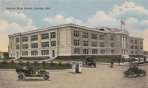 of nebraska lincoln school lincoln high school lincoln ne postcard 1917 ebay