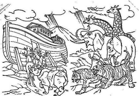 coloring pages animals noah s ark coloringtoolkit six noahs ark coloring pages coloring