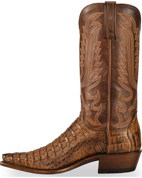 mens snip toe boots lucchese s handmade walter hornback caiman western