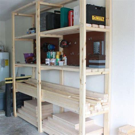 build garage shelves easy diy garage shelving hometalk