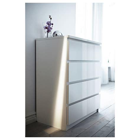 ikea malm malm chest of 4 drawers white high gloss 80x100 cm ikea