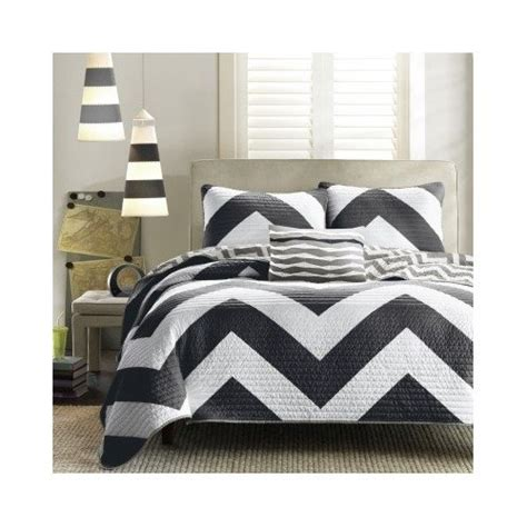 black and white chevron comforter set reversible modern black white chevron quilt bedding set