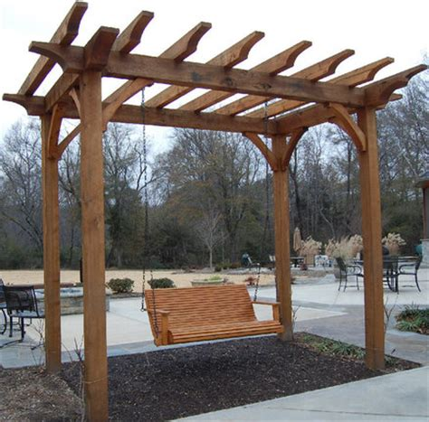 pergola with swing plans pergola swing by fuzzydove lumberjocks com