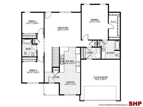 small ranch house plans ranch house plans no garage one three bedroom french country hwbdo66532 ranch from