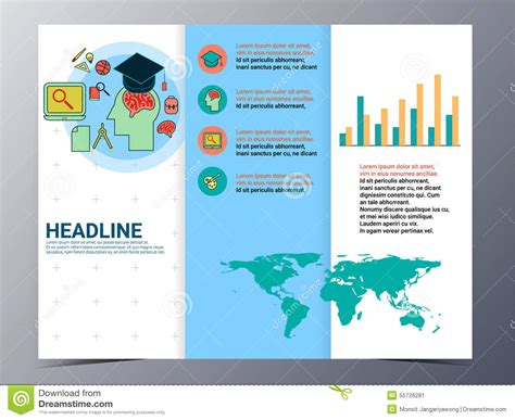 School Brochure Template Free by Education And School Brochure Design Template Vector Flyer