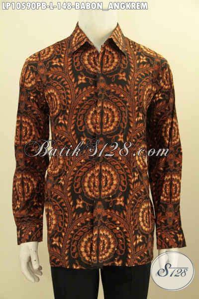 Batik Tulis Motif Babon Angkrem pakaian batik untuk pria kerja kantoran hem batik