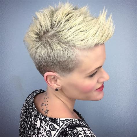 edgy short hair in the back spiky crop autos post