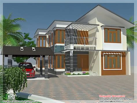 home design for 4 bedrooms 4 bedroom house elevation with free floor plan kerala