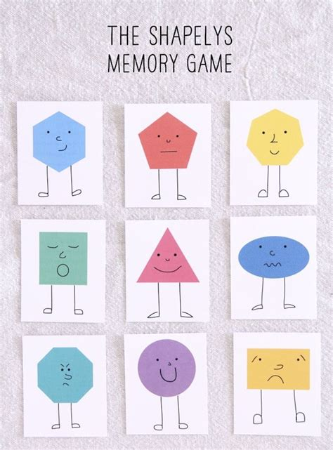 printable memory games 16 best images about formas on pinterest 3d shapes