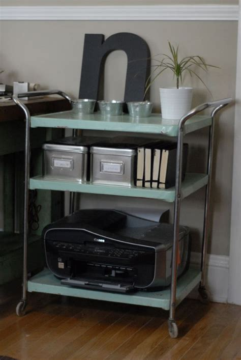 printer storage how to clear off your home office desk and keep it that way