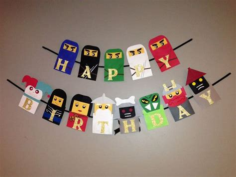 Handmade Birthday Banner Ideas - handmade ninjago inspired birthday banner by