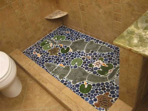 17 best images about fish in my floor on shower floor murals and fish