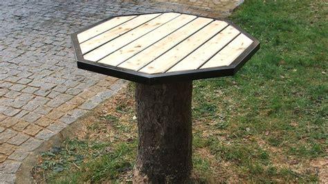 Fabriquer Un Plateau De Table by Fabriquer Un Plateau De Table M 233 Tal Et Bois Sur Un Tronc D