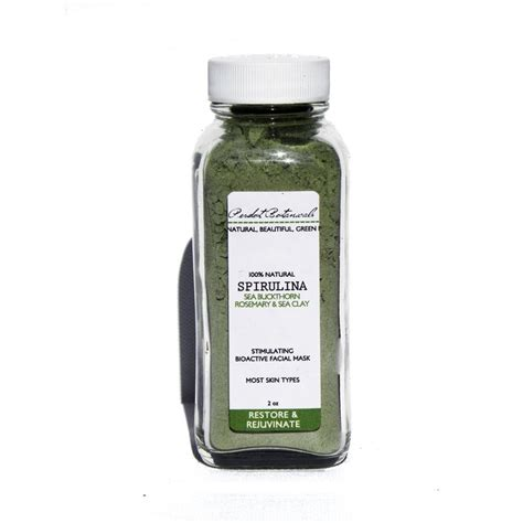 Blue Detox Clay Mask by Spirulina Sea Mask Blue Green Algae Seaweed