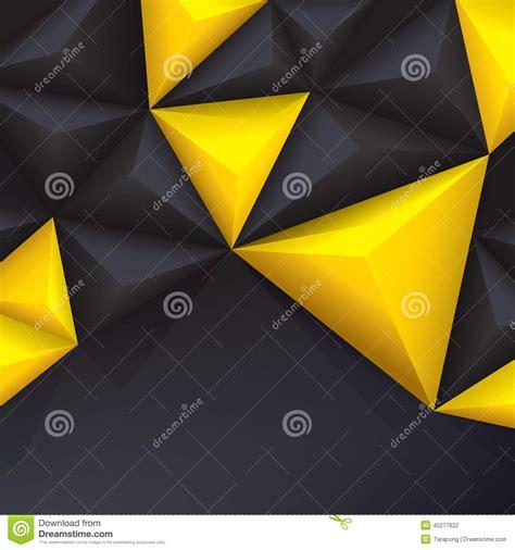 black yellow wallpaper vector yellow and black vector geometric background stock vector