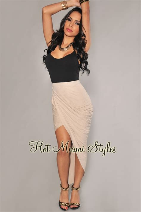 asymmetrical draped skirt cream faux suede ruched asymmetrical draped skirt