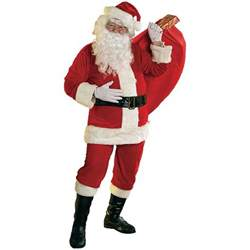 santa costume adult soft velour santa claus suit christmas
