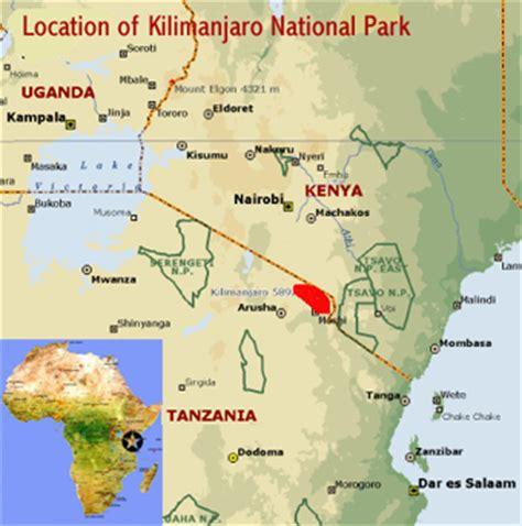 africa map kilimanjaro kilimanjaro national park tanzania world